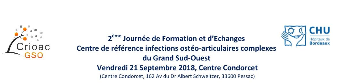 2èmes journée du centre de référence des infections ostéo-articulaires complexes du grand sud-ouest.